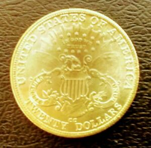 THE  1891 CC AMERICAN GOLD PLATED 20 DOLLARS DOUBLE EAGLE UNC 5 000 MINTED