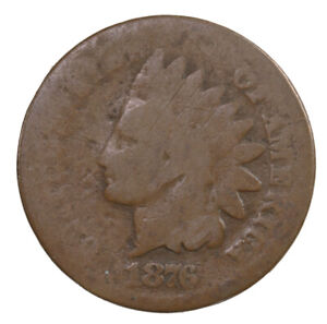 RAW 1876 INDIAN HEAD 1C UNCERTIFIED UNGRADED US SMALL CENT PENNY COIN