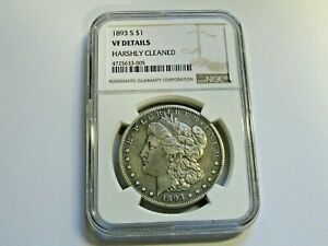 1893 S 1893S MORGAN DOLLAR NGC VF DETAILS THE KEY DATE