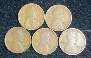 1915 D 1919 D LINCOLN WHEAT PENNY SET   1