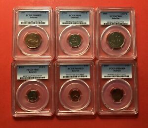 Click now to see the BUY IT NOW Price! 1965 BAHRAIN 4 PROOF COINS  1 5 10 25 50&100 FILS   GRADED BY PCGS PR 66 68.
