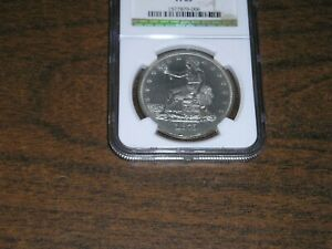 1875 $1.00 TRADE DOLLAR NGC GRADED COIN IN PF63 CONDITION.  & INS