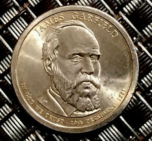 2011 P JAMES GARFIELD 20TH PRESIDENTIAL $1 COIN