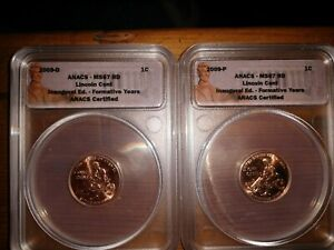 2009 LINCOLN CENT FORMATIVE YEARS MS67RD INAUGURAL EDITION
