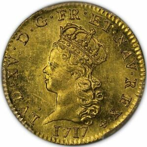 Click now to see the BUY IT NOW Price! 1717 A 1/2 LDO 1/2 LOUIS DE NOAILLES   1/2 LOUIS DE NOAILLES PCGS MS63