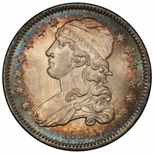 Click now to see the BUY IT NOW Price! 1834 25C CAPPED BUST QUARTER PCGS MS66