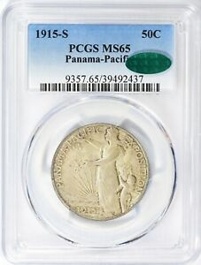 Click now to see the BUY IT NOW Price! 1915 S PCGS CAC MS65 PANAMA PACIFIC EXPO HALF DOLLAR COMMEMORATIVE COMMEM PPIE