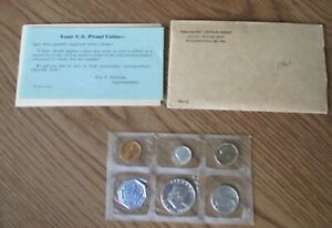 1960 US MINT SILVER PROOF SET WITH 3 SILVER COINS INCLUDING THE FRANKLIN HALF