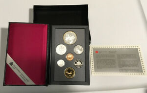 CANADA 1990 DOUBLE DOLLAR PROOF SET WITH SILVER $1 KELSEY BOX & COA
