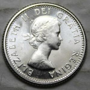 CANADA 1961 SILVER 10 CENTS CHOICE BRILLIANT UNCIRCULATED LUSTROUS