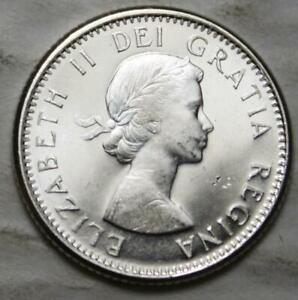 CANADA 1963 SILVER 10 CENTS CHOICE BRILLIANT UNCIRCULATED CAMEO