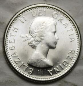 CANADA 1959 SILVER 10 CENTS CHOICE BRILLIANT UNCIRCULATED
