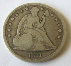 1871 SEATED LIBERTY TYPE ONE DOLLAR