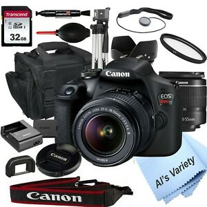 CANON EOS REBEL T7 DSLR CAMERA WITH 18 55MM F/3.5 5.6 ZOOM LENS   32GB  18PC