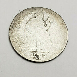 1877 P SEATED LIBERTY DIME    90  SILVER     PR   POOR
