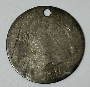 1829 SILVER BUST HALF DIME HOLED