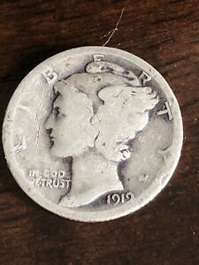 1912 S BARBER SILVER DIME   VG   NICE COIN
