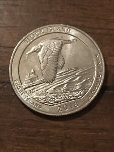 2018 D BLOCK ISLAND NP AMERICA THE BEAUTIFUL QUARTER  BUY 4 GET 20  OFF  828