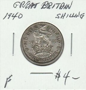 GREAT BRITAIN 1940 SHILLING
