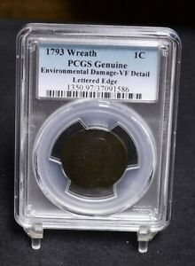 Click now to see the BUY IT NOW Price! 1793 LARGE CENT   WREATH   LETTERED EDGE   PCGS VF DETAILS  32394