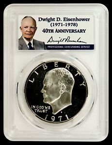 Click now to see the BUY IT NOW Price! 1971 S SILVER EISENHOWER DOLLAR PCGS PR70DCAM