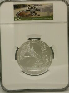 Click now to see the BUY IT NOW Price! 2015 5 OZ SILVER ATB  BLUE RIDGE    NGC SP70 EARLY RELEASE