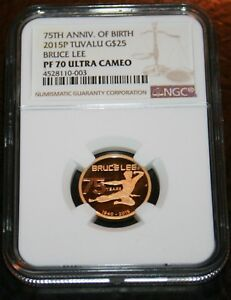 Click now to see the BUY IT NOW Price! 2015 BRUCE LEE TUVALU $25 GOLD COIN NGC PF70 ULTRA CAMEO  POP 16 WOW