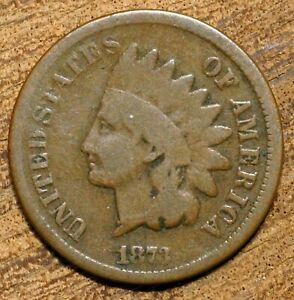 1873 INDIAN HEAD CENT OPEN 3 VARIETY PHILADELPHIA MINT COIN U.S. EARLY PENNY