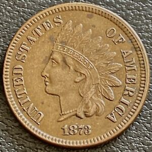 1873 INDIAN HEAD CENT 1C HIGH GRADE NATURAL AU   UNC OPEN 3 28003