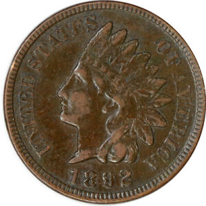 1892 1C INDIAN HEAD CENT PENNY RAW CIRCULATED COIN