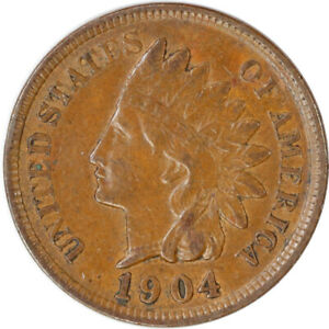 1904 1C INDIAN HEAD CENT PENNY RAW CIRCULATED COIN FULL LIBERTY