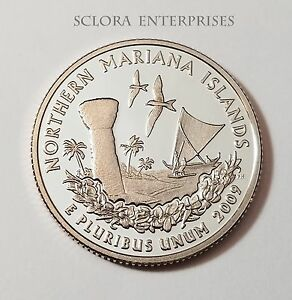 2009 S NORTHERN MARIANA  CLAD PROOF  QUARTER