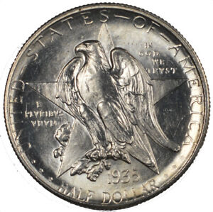 1935 D TEXAS COMMEMORATIVE SILVER HALF DOLLAR 50C   BU BRILLIANT UNCIRCULATED