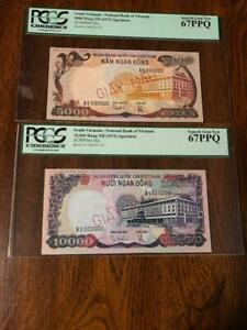 Click now to see the BUY IT NOW Price!  1975 SOUTH VIETNAM $5000 & $10000 SPECIMEN PCGS 67
