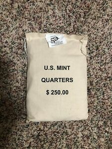 Click now to see the BUY IT NOW Price!  2000 MASSACHUSETTS  P  QUARTERS SEWN BAG $250 1000 COINS   UNOPENED