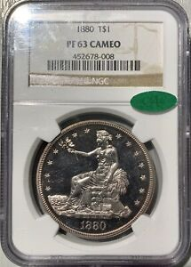 1880 TRADE DOLLAR NGC PF63CAM CAC