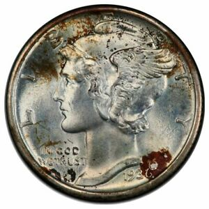 Click now to see the BUY IT NOW Price! 1936 10C DIME MERCURY PCGS MS68FB
