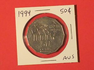 1994 50 CENTS COIN   AUSTRALIA  / YEAR OF THE FAMILY  KM 257    NICE