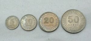 Click now to see the BUY IT NOW Price! LOT OF 4 MALAYA & BRITISH BORNEO 1961 COINS 5 CENT   50 CENT AU   UNC NICE