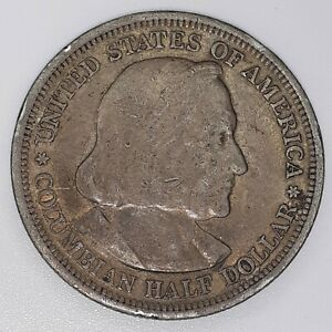 1893 COLUMBIAN EXPOSITION COMMEMORATIVE HALF DOLLAR 50 CENT SILVER COIN 002