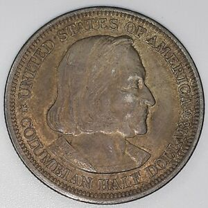 1893 COLUMBIAN EXPOSITION COMMEMORATIVE HALF DOLLAR 50 CENT SILVER COIN 003