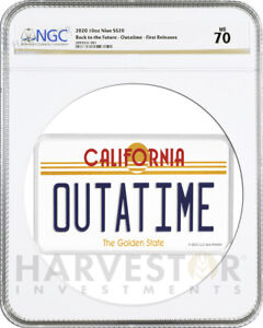Click now to see the BUY IT NOW Price! BACK TO FUTURE OUTATIME 10 OZ. SILVER COIN LICENSE PLATE NGC PF70 FIRST RELEASE