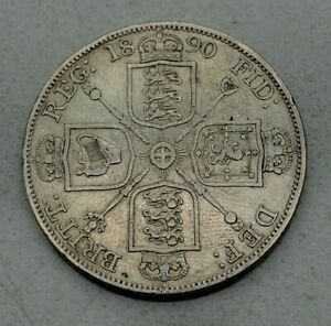 Click now to see the BUY IT NOW Price!  OLD 1890 BRITAIN BRITISH UK LARGE DOUBLE FLORIN COIN  VICTORIA NICE