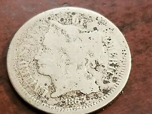1867 THREE CENT NICKEL ODD DENOMINATION       INV10     N1013