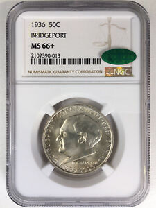 Click now to see the BUY IT NOW Price! 1936 BRIDGEPORT 50C NGC CAC CERTIFIED MS66