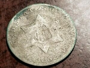 1852 THREE CENT SILVER ODD DENOMINATION     L04     NL1043