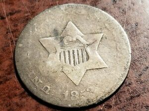1852 THREE CENT SILVER ODD DENOMINATION     L04     NL1045