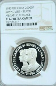 Click now to see the BUY IT NOW Price! 1983 URUGUAY SILVER 20000 PESOS ROYAL VISIT NGC PF 69 ULTRA CAMEO TOP POP 1