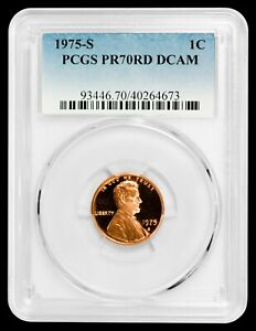 Click now to see the BUY IT NOW Price! 1975 S LINCOLN CENT PCGS PR70RD DCAM    ONLY 70 EVER GRADED    POP 1/0