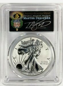 Click now to see the BUY IT NOW Price! THOMAS CLEVELAND SIGNED 2019 S SILVER EAGLE ENH REV PROOF FIRST STRIKE PCGS PR70